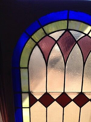 Antique Arch Top Stained Glass Window 33.25 X 63.25 High Sg 134 2