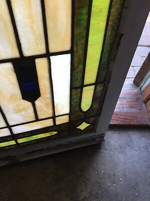 "Sg 305 Antique Landing Window 28.25"" X 45.5"" High 6"