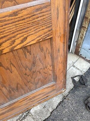Cm 49 Antique Oak Two Panel Pocket Door 7