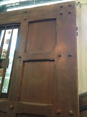 "Spanish Hewn Wood Front Door 77""x40 10"