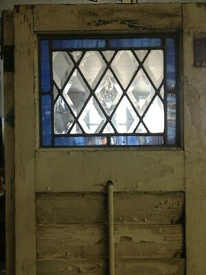 Old Wooden Shutters With Leaded Stained Glass 3