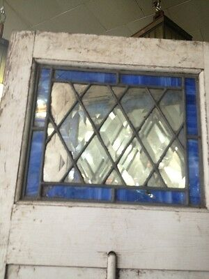 Old Wooden Shutters With Leaded Stained Glass 4
