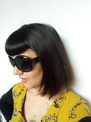 2 sur 7 Grosses lunettes de soleil oversize branches monture noire rétro  pinup 133e73cbb3f7