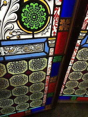 Sg 895 Two Available Price Separate Antique Painted And Fired Landing Windows 6