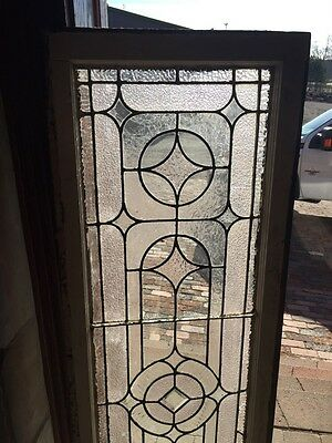 "Sg 723 Antique Transom Stainglass Window 19"" X 62"" 2"