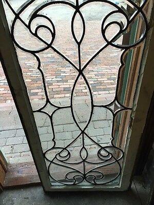 Sj 327 Groovy Antique Swirly Beveled  Glass Transom Large 3