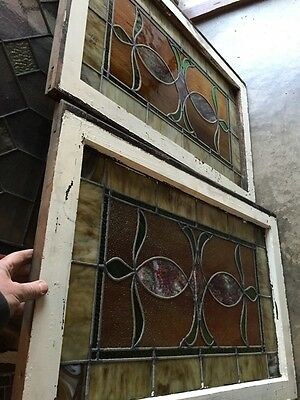 Sg 677 2 Available Priced Separate Antique Stainglass Windows 12