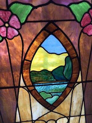 Sg 441 Antique Stainglass Landing Window Keyhole Design 4