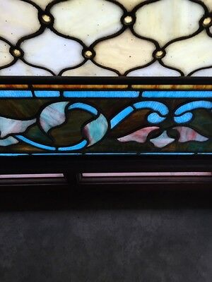 Antique Painters Palette Stainglass Window With Many Jewels 11