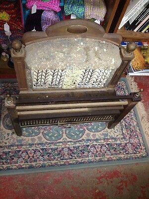 Steampunk 1900s IRON Steel Brass GAS FIREPLACE INSERT REZNOR Orthoray Rare Vtg