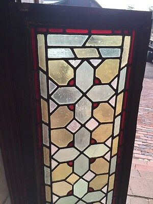 Sg 813 Two Available Priced Separate Antique Stainglass Transom Window 2