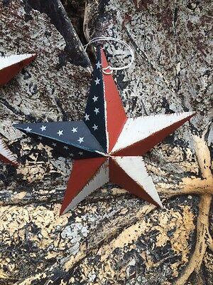 "5.5/"" PATRIOTIC AMERICANA PRIMITIVE AMERICAN G8T W BLACK BARN STARS Set of 2"