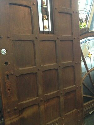 "Spanish Hewn Wood Front Door 77""x40 2"