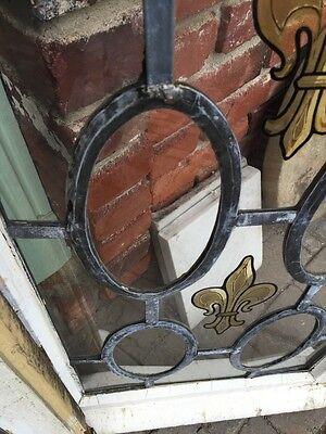 Sg 373 Antique Fluer De Lis Vertical Windows Matched Pair