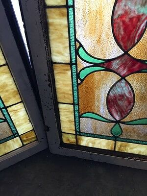 Sg 677 2 Available Priced Separate Antique Stainglass Windows 6