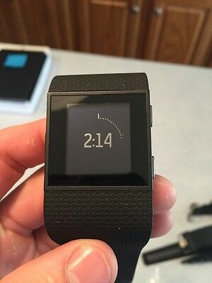 FITBIT SURGE SMALL Black GPS Heart Rate Activity Fitness Tracker Watch J21-6