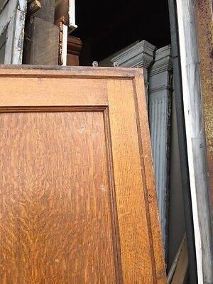 Cm 49 Antique Oak Two Panel Pocket Door