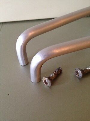 """VTG MidCentury Pulls In brushed Stainless Steel. 3 5/8"""" Hole To Hole Set Of 2 11"""