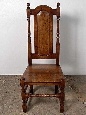 Set 8 English Elizabethan Tudor Oak Dining Chairs Chair 3