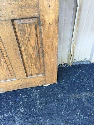 Cm 85 Antique Oak Entrance Door Or Passage Door 29.5 X 78 6