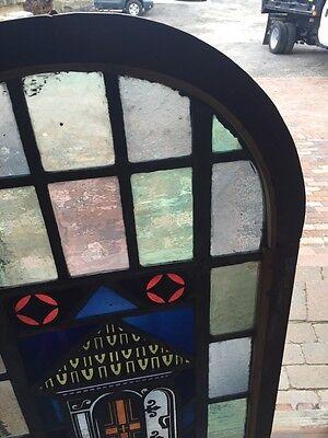 Sg 697 Antique Painted In Fired Open Door Alter Window 3