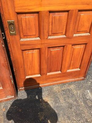D2 26 One Pair Antique Cherry Pocket Doors 80 Inch Wide By 105 Hi 7