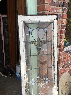 Sg 740 Antique Transom Window Stainglass 18 X 60 6