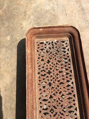 "Rt 2 Antique Cast-Iron Radiator Cover 27"" X 10"" 4"