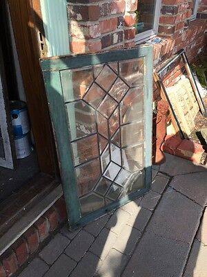Sg 464 Antique Beveled Glass Window Vertical Or Horizontal