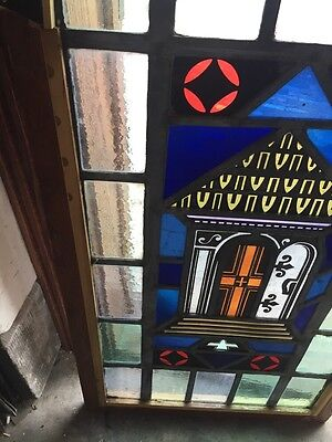Sg 697 Antique Painted In Fired Open Door Alter Window