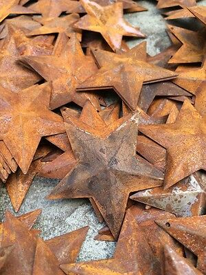 "50 Dimensional Rusty Barn Stars 2.25 in 2 1/4"" Primitive Metal Rust 57mm Craft * 7"