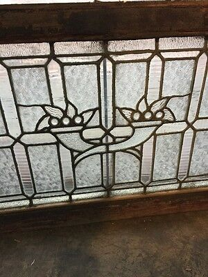 Sg 955 Antique Textured Glass Jeweled Transom 3