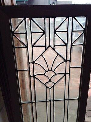 Sg 217 All Beveled Glass Door Panel Or Landing Window Antique