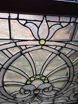 Sg 207 Absolutely Incredible 1880S Beveled Glass Window 3
