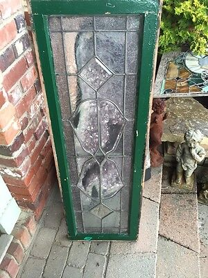 Sg 851 Antique Beveled Glass Textured Glass Transom Window Nice 7