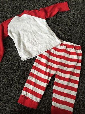 Christmas Pyjamas Rudolf Santas Little Helper Early Days Age 6-12 Months 5
