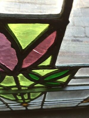 Sg 782 Four Available Price Separate Antique Stainglass Windows 3