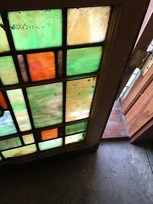 Sg 678 Two Available Priced Each Antique Stainglass Windows Tree