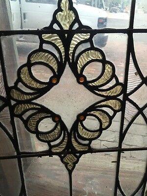 Sg 849 Antique Stain Glass Textured Glass Window 5