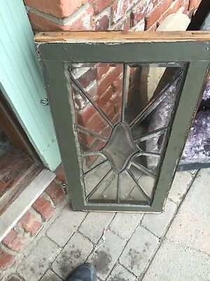 Sg 842 Antique All Beveled Glass Transom 16 X 31 5