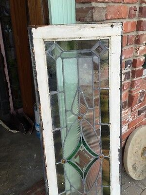 Sg 742 Antique Transom Window 4 Faceted Jewels 5