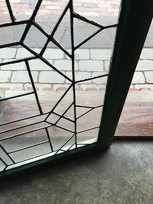 "Sg 627 Antique Leaded Glass Transom Window 21.25 X 34.25"" 5"