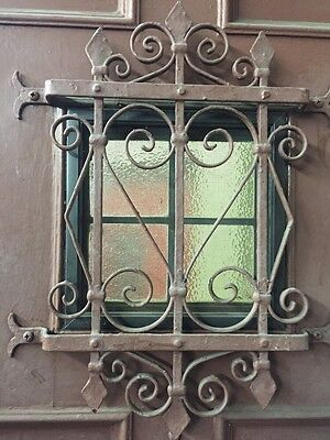 Old Antique Vintage Spanish Revival 42 Winch Front Door With Rare Banded Iron 4