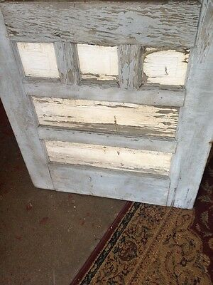 Vtg Old door country Farm house chic Hardware Corbin Brown Knob Lock Glass Panel