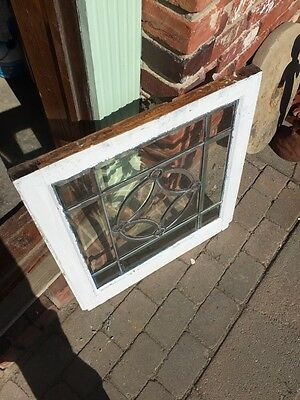 Sg 730 Antique Beveled Glass Window With 4 Jewels 5