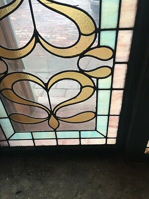 SG 418 Matched Pair Antique Windows With Beveled Glass Center 4