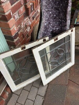 Sg 1282 3Available Price Each Antique All Beveled Glass Window 24.5 X 25 W