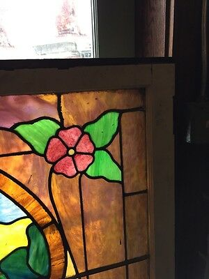 Sg 441 Antique Stainglass Landing Window Keyhole Design 3