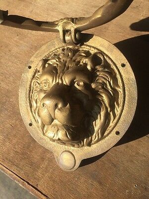 Antique Lion Face Doorknocker