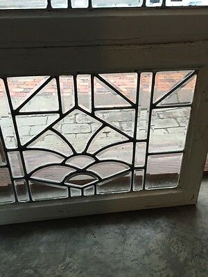 Sg 843 Two Available Price Separate Antique Beveled Glass Window 6